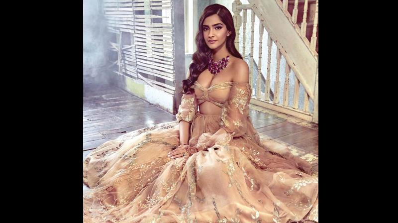 Sonam kapoor in a Shehla Khan outfit