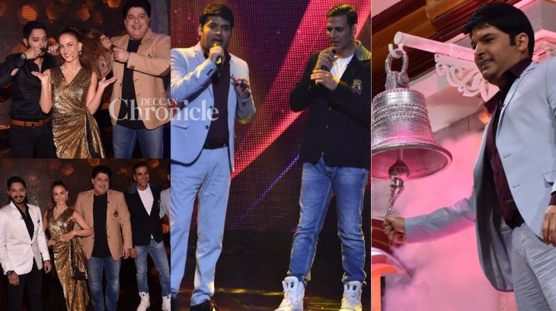Kapil Sharma made an appearance on Akshay Kumar's reality show 'The Great Indian Laughter Challenge' on Tuesday in Mumbai. (Photo: Viral Bhayani)