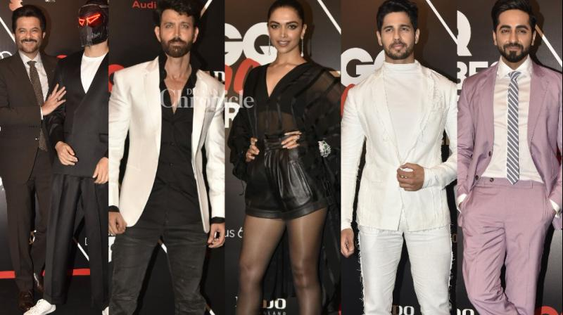 Bollywood stars dazzled in their best outfits at an event held by a leading fashion magazine in Mumbai on Saturday. (Photo: Viral Bhayani)