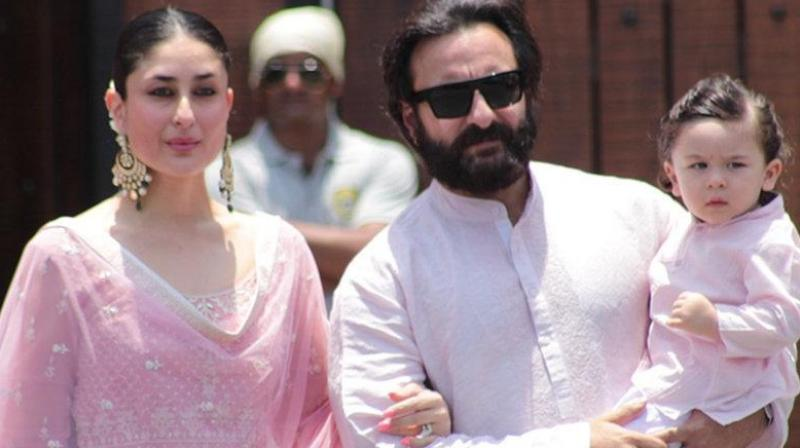 Kareena Kapoor Khan, Saif Ali Khan and Taimur.