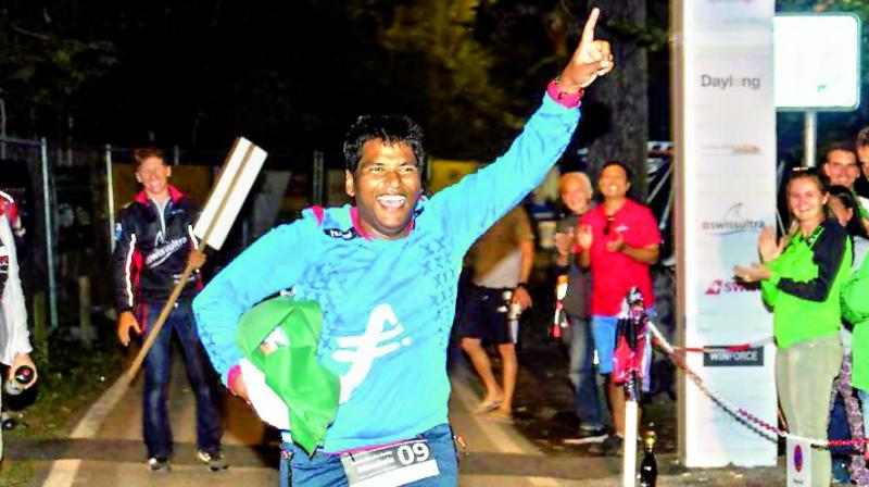 Sarath Chandra Manchala is the first Indian to complete the Deca Ironman at Buchs, Switzerland, comprising 38 km swim, 1,800 km cycling and 422 km running.