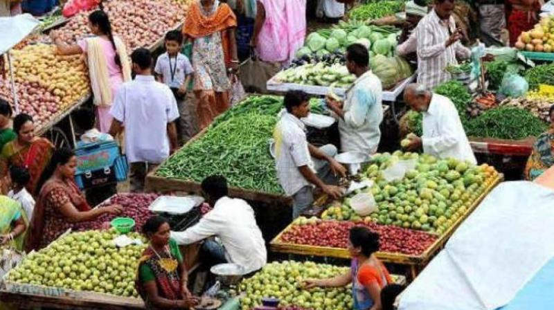 The inflation print for vegetables shot up to 15.40 per cent during the month. (Representational Image)