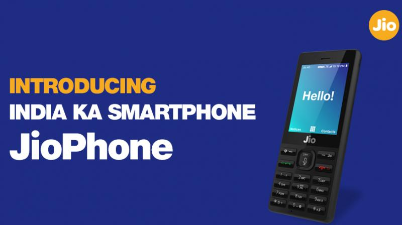 Reliance Jio has launched JioPhone for a refundable security deposit of Rs 1,500.