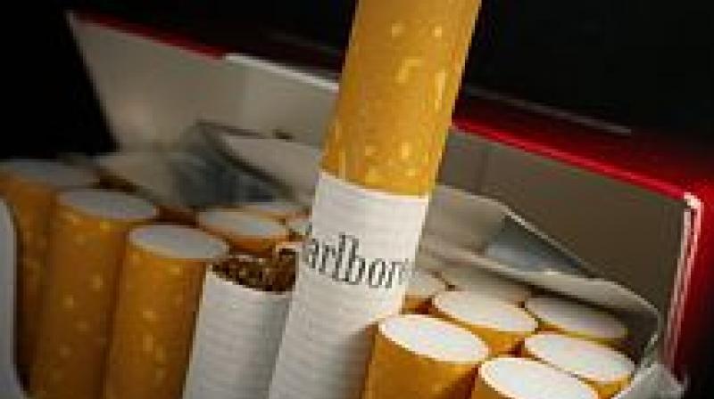 Philip Morris advertises Marlboro cigarettes in India.