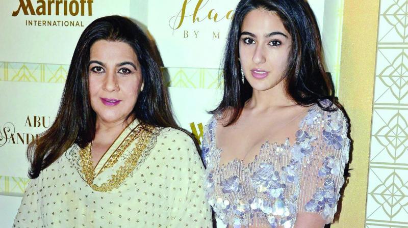 Sara Ali Khan with mother Amrita Singh.