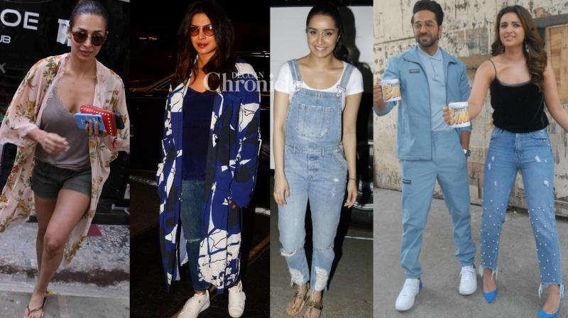 B-Town stars stepped out in theit stylish best and were clicked by camerapersons at various locations in Mumbai on Friday. (Photo: Viral Bhayani)