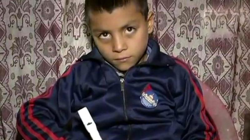 Nine-year-old Muzaffar Ahmad Khan said the idea of 'counting pen' struck him after he got poor marks in an exam, as he could not manage the required word count. (Photo: ANI | Twitter)