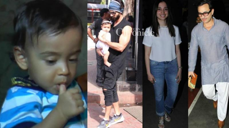 Shahid Kapoor took his daughter Misha for lunch, while Salman Khan's newphew Ahil watched 'Baahubali: The Conclusion' and other stars were also snapped in Mumbai on Sunday. (Photo: Viral Bhayani)