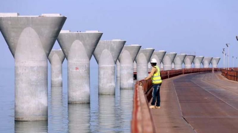 Kuwait's 22-mile bridge, cost $3 billion, is nearly complete