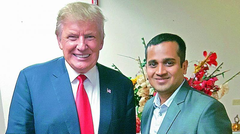 Arizona Republican party campaign strategist for Donald Trump Avinash (in picture) is from Rajahmundry.