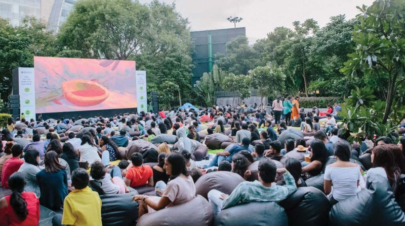 People in the city can look forward to watching movies outdoors