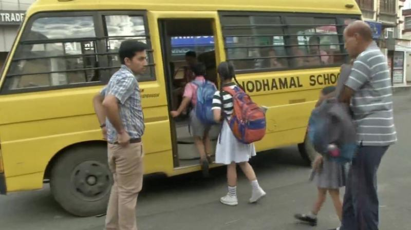 A police official said most of the educational institutions in Samba, Udhampur and Kathua districts resumed normal activities on Friday. (Photo: ANI)