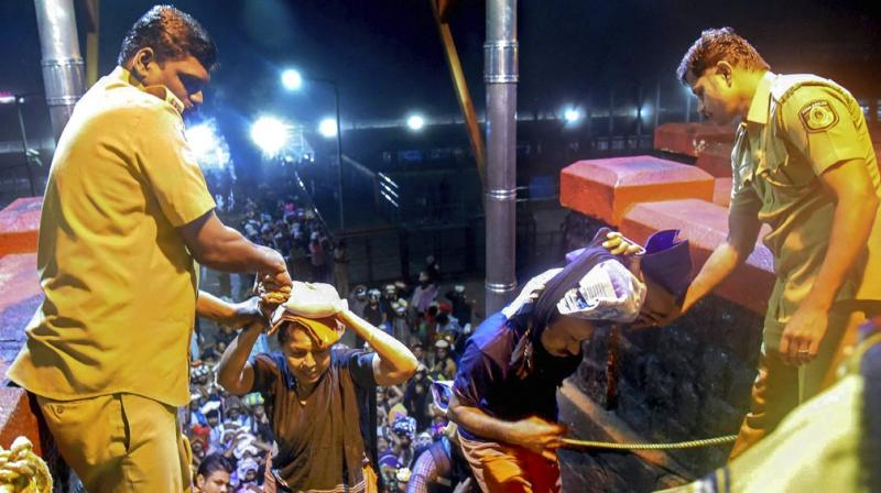 On September 28, the Supreme Court lifted the centuries-old ban on the entry of women of menstrual age into Sabarimala temple in Kerala. (Photo: PTI)