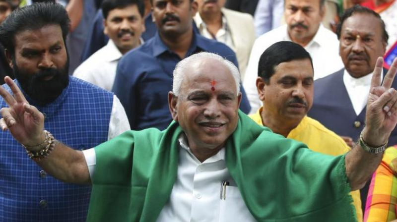 B S Yeddyurappa has to face a floor test at 4 pm on Saturday. (Photo: AP)