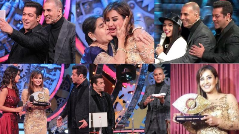 Akshay Kumar was the chief guest at the grand finale of Salman Khan's 'Bigg Boss' held in Mumbai on Sunday. (Photo: Instagram)