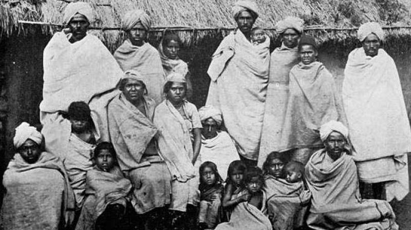 Badaga villagers in late 1800s Nilgiris. (Photo - DC)