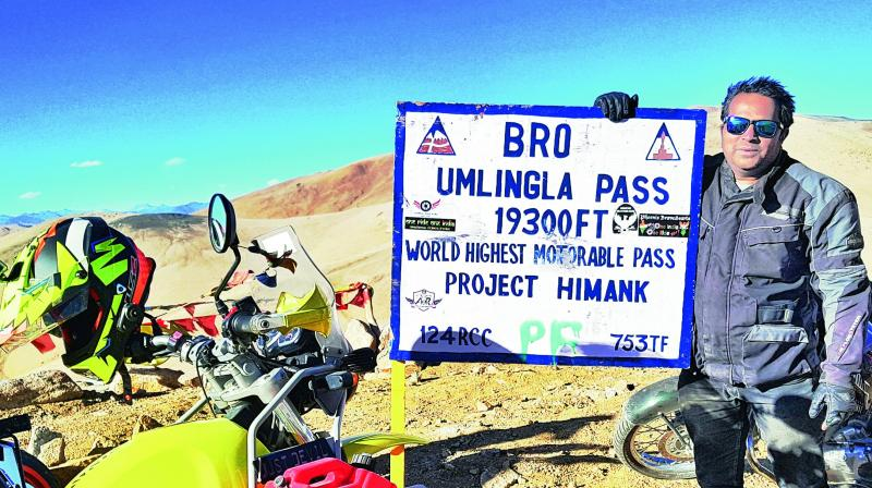Apart from being one among the very few to ever ride to the remote Himalayan Spiti Valley in winter. (Photo: DC)