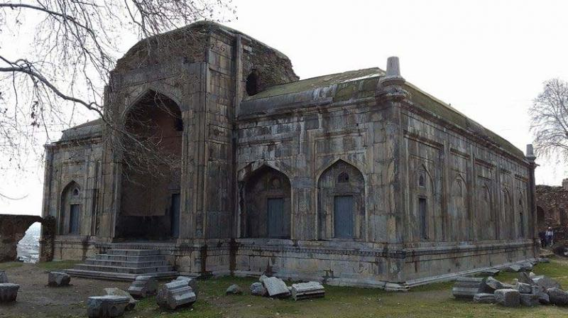 Akhund Mullah mosque on the foothills of Hari Parbat, built by Mughal prince Dara Shikoh for honouring his tutor Mullah Akhund Shah in A.D.1649, is among historic monuments and sites which are falling prey to ASI neglect.