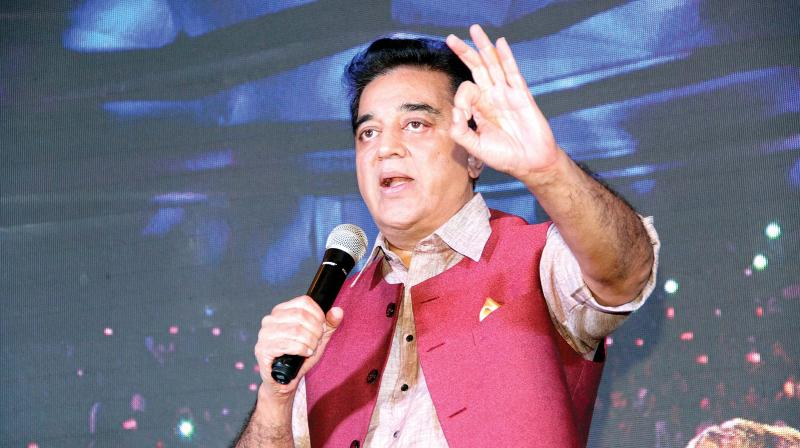 Targeting the state government for selling liquor through TASMAC shops, Haasan said the government should instead focus on education and sanitation. (Photo: DC)