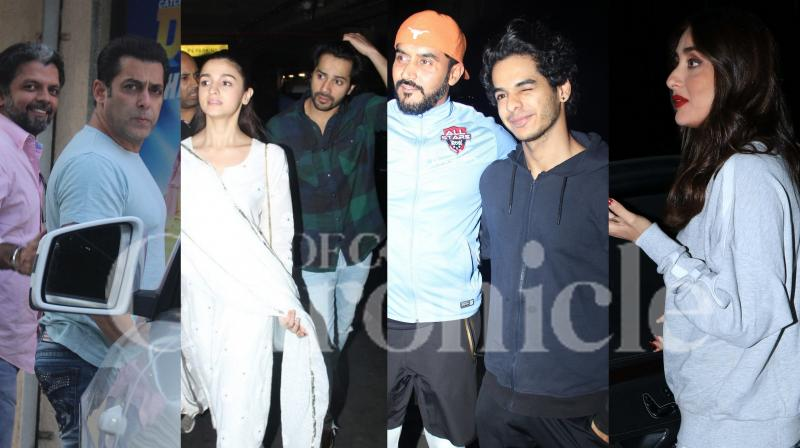 Bollywood stars Salman Khan, Kareena Kapoor Khan, Alia Bhatt with Varun Dhawan, Ishaan Khatter and others were spotted in the city. Here's an exclusive list of celebrity spotting around town. (Pictures: Viral Bhayani)