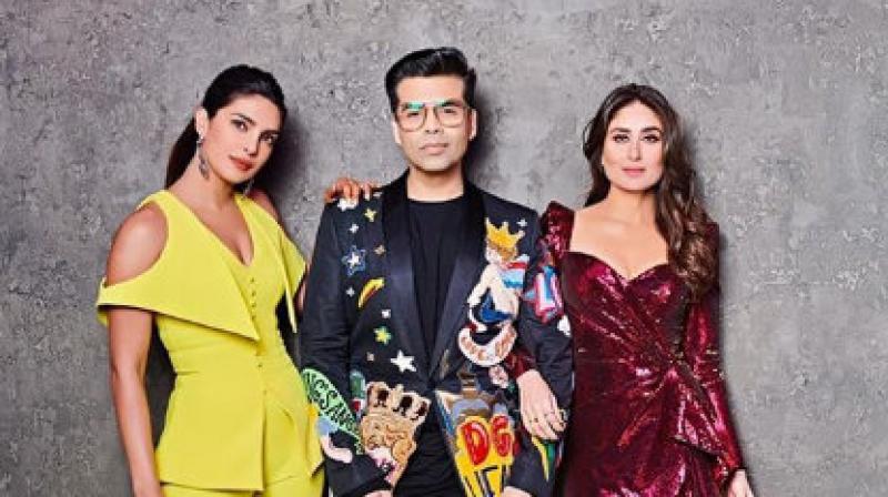 Priyanka Chopra and Kareena Kapoor Khan shoot for 'Koffee With Karan'
