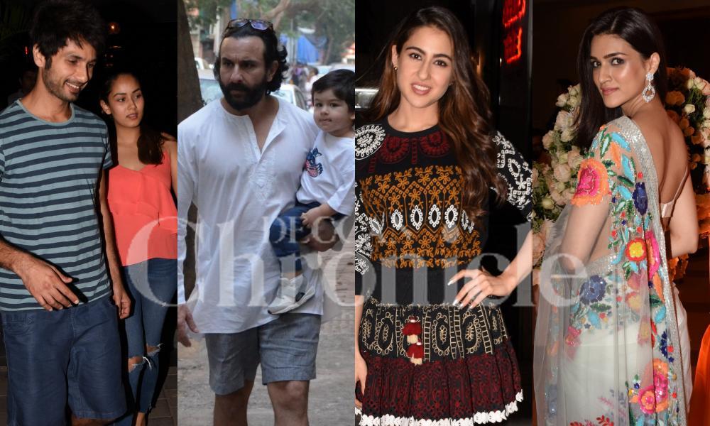 City of stars: Sara, Kriti, Shahid-Mira, Saif with Taimur & others spotted