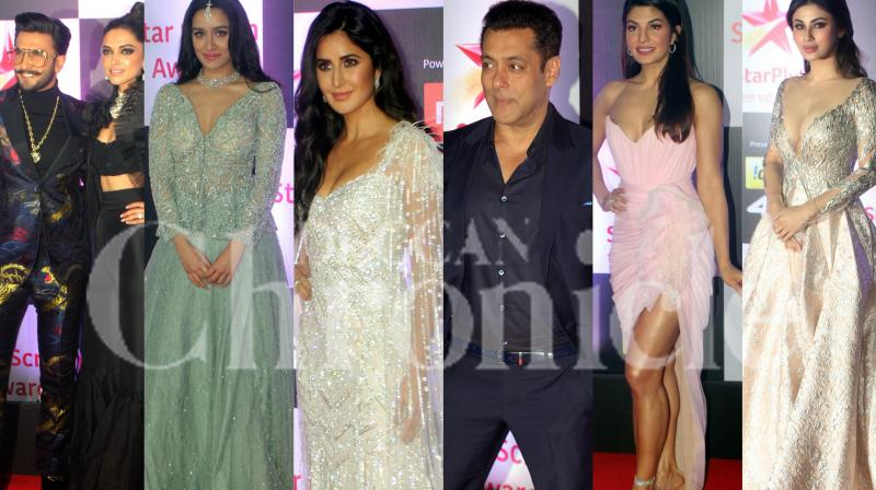 From Katrina Kaif to Salman Khan and Deepika Padukone-Ranveer Singh, the popular Bollywood celebrities graced the red carpet at the Awards night making it a gala affair. Check out the pictures. (Photos: Mrugesh Bandiwadekar)
