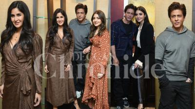Shah Rukh Khan, Anushka Sharma and Katrina Kaif going all out to promote their upcoming romantic-drama 'Zero', which is all set to arrive in theatres on December 21. Check out the latest pictures of blockbuster trio here. (Pictures: Viral Bhayani)