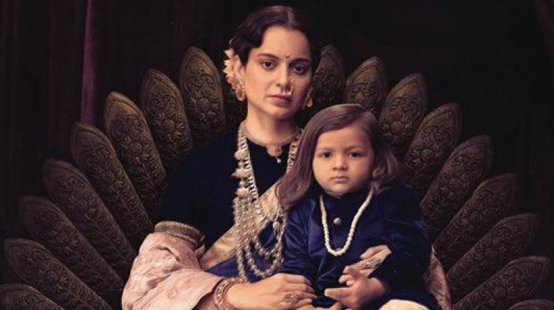 Kangana Ranaut in the still from 'Manikarnika'.