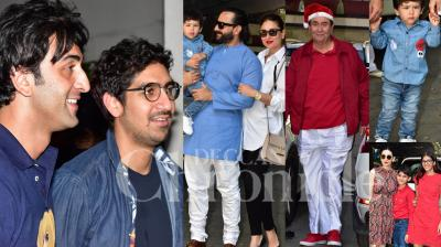 The annual Kapoor Christmas lunch took place on Tuesday at late Shashi Kapoor's home and was attended by the extended Kapoor family, including Ranbir Kapoor, Kareena Kapoor Khan, Karisma Kapoor, Saif Ali Khan with the always show-stealer Taimur Ali Khan. (Pictures: Viral Bhayani)