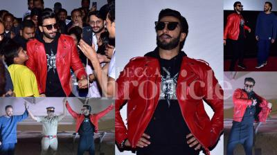 Ranveer Singh and director Rohit Shetty together visited a couple of theatres in Mumbai to see the reaction Simmba is getting from the audiences. (Photos: Viral Bhayani)