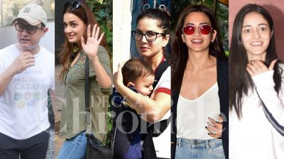 Bollywood celebs Aamir Khan, Sunny Leone, Dia Mirza, Kriti Karbanda and others were spotted in the city. Check th pictures here. (Photos: Viral Bhayani)