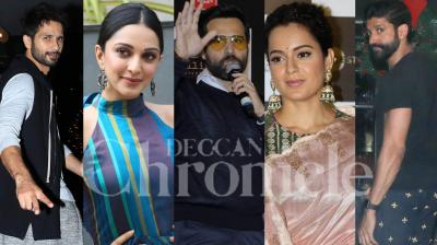 Kangana Ranaut, Shahid Kapoor, Kiara Advani, Farhan Akhtar, 'Cheat India' star Emraan Hashmi and other Bollywood stars were spotted. Check out the pictures here. (Photos: Viral Bhayani)