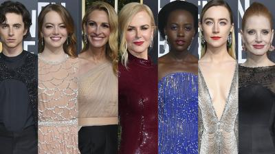 The Golden Globes red carpet kicked off with some stunning looks from Hollywood stars. Check out the exclusive pictures here. (Photo by Jordan Strauss/Invision/AP)