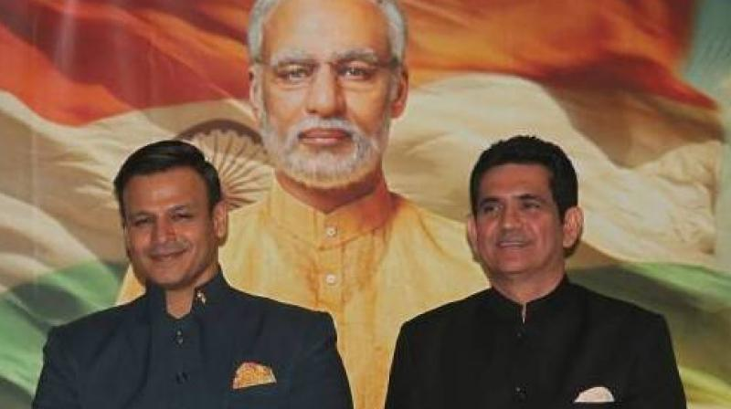 Vivek Oberoi and director Omung Kumar at the poster launch of the film