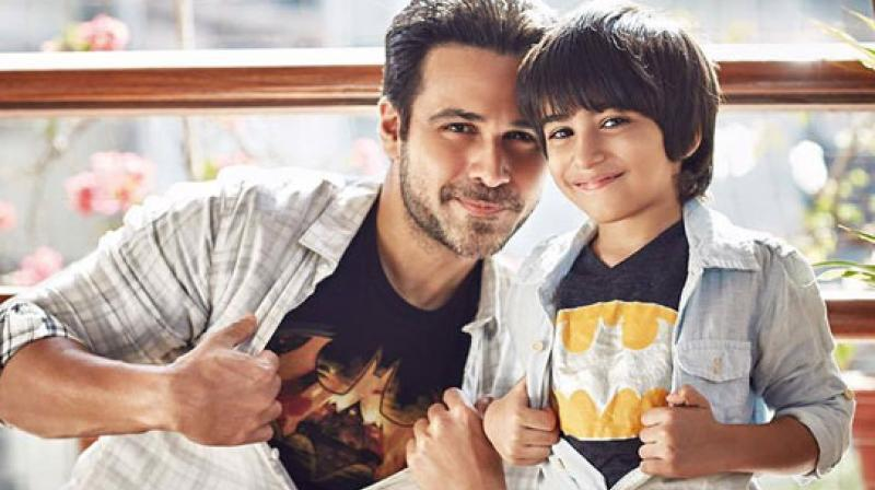 Emraan Hashmi with his son.