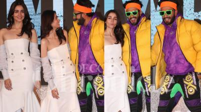 Alia Bhatt and Ranveer Singh launched the trailer of their upcoming film Gully Boy at a grand event in Mumbai on Wednesday. Check out pictures here. (Photos: Mrugesh Bandiwadekar)
