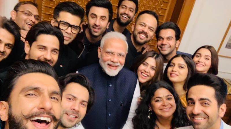 Major Bollywood stars such as Ranveer Singh, Ranbir Kapoor, Alia Bhatt and Varun Dhawan landed in the capital city for a meeting with Prime Minister Narendra Modi.