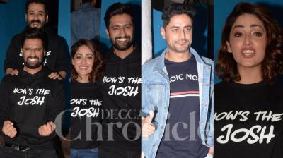 Vicky Kaushal, Yami Gautam, Paresh Rawal. director Aditya Dhar and producer Ronnie Screwvala among others donned