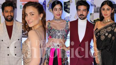 Vicky Kaushal, Janhvi Kapoor, Warina Hussain, Nushrat Bharucha, Neena Gupta, Mouni Roy, Saqib Saleem, and other celebs graced the red carpet of Lions Gold Awards 2019. Check out pictures here. (Photos by Viral Bhayani)