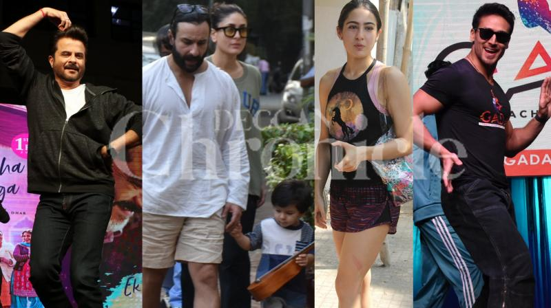 Bollywood stars Anil Kapoor, Tiger Shroff, Sara Ali Khan, Sunny Leone, Kareena Kapoor Khan-Saif Ali Khan with son Taimur and others were spotted in the city. Check out the latest and exclusive pictures of Bollywood stars. (Photos: Viral Bhayani)