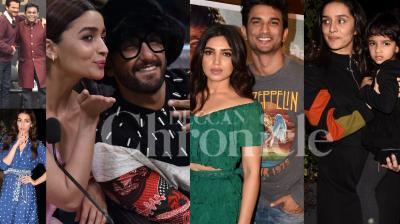 Ranveer Singh and Alia Bhatt are out on 'Gully Boy' promotions; 'Sonchiriya' stars Sushant Singh Rajput and Bhumi Pednekar commence interviews to promote their film, Kriti Sanon, Anil Kapoor and Shraddha Kapoor with family were snapped in the city. Check out the exclusive photos of Bollywood celebrities right here. (Pictures: Viral Bhayani)