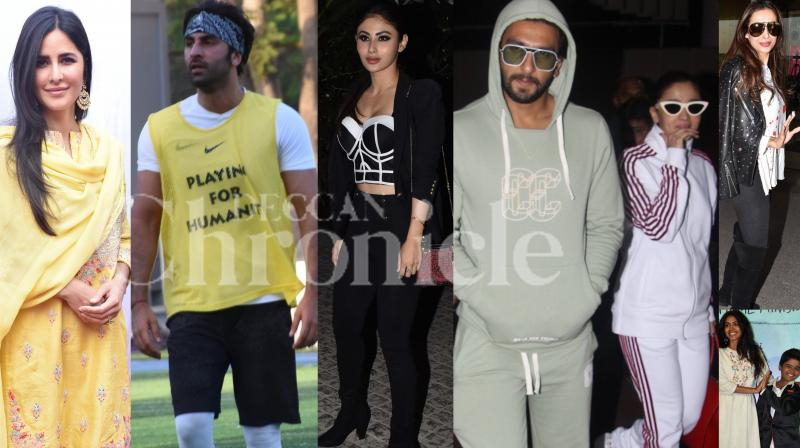 Bollywood stars Ranbir Kapoor, Katrina Kaif, Mouni Roy, Gully Boy stars Ranveer Singh-Alia Bhatt and others were snapped in the city. Check out pictures here. (Photos: Viral Bhayani)