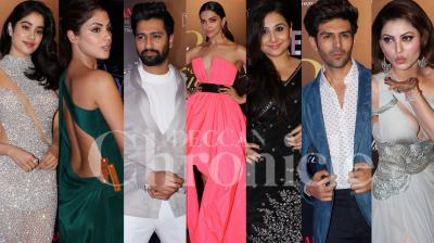 Bollywood stars Deepika Padukone, Kartik Aaryan, Janhvi Kapoor, Vicky Kaushal, Vidya Balan and others looked their stylish best as they walked the red carpet at the Filmfare Glamour and Style Awards 2019, held at the JW Marriott Hotel in Mumbai on February 12, 2019. (Photos: Viral Bhayani)