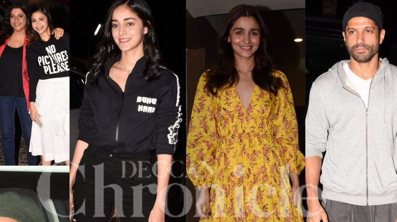 Ranveer Singh, Alia Bhatt and Zoya Akhtar hosted a special screening of their film Gully Boy for friends and family. Farhan Aktar, Javed Akhtar, Dia Mirza, Ananya Pandey and others were spotted at the screening. (Photos: Viral Bhayani)