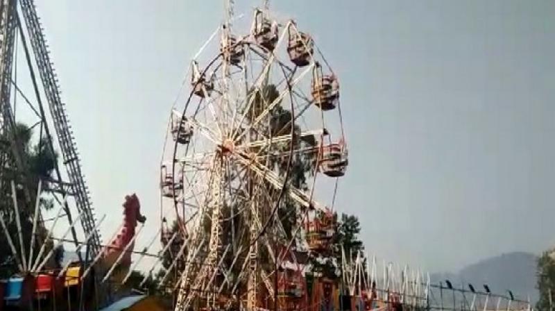 Paderu area was celebrating a tribal festival to honour the presiding tribal goddess Modakondamma. (Photo: ANI)