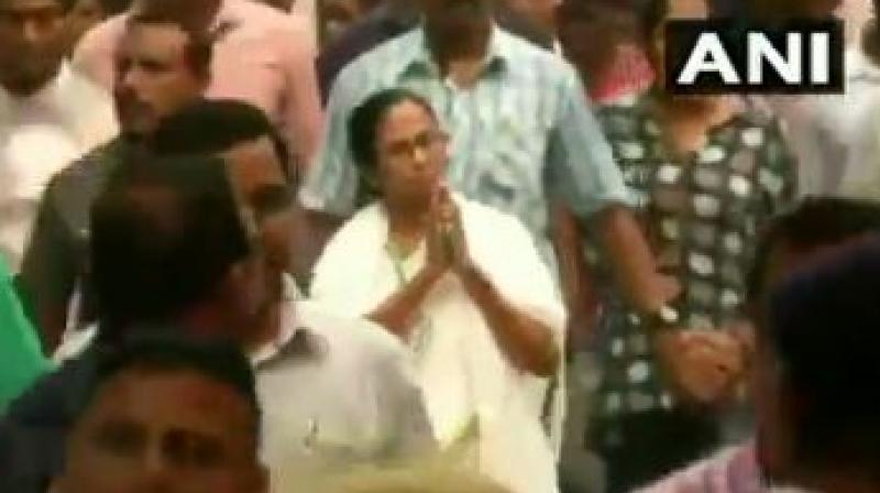 Watch: Mamata Banerjee holds protest march against Amit Shah