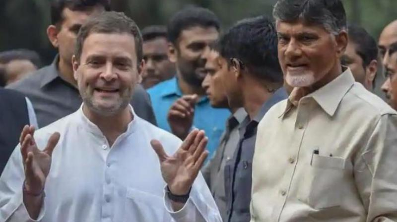 Naidu met Congress president Rahul Gandhi and discussed with him the possibilities of all opposition parties uniting and forging a joint opposition alliance.  (Photo: PTI | File)