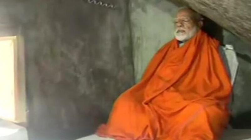 Modi will meditate till tomorrow morning, and no media or personnel will be allowed in the vicinity of the cave during this period, sources mentioned. (Photo: ANI twitter)