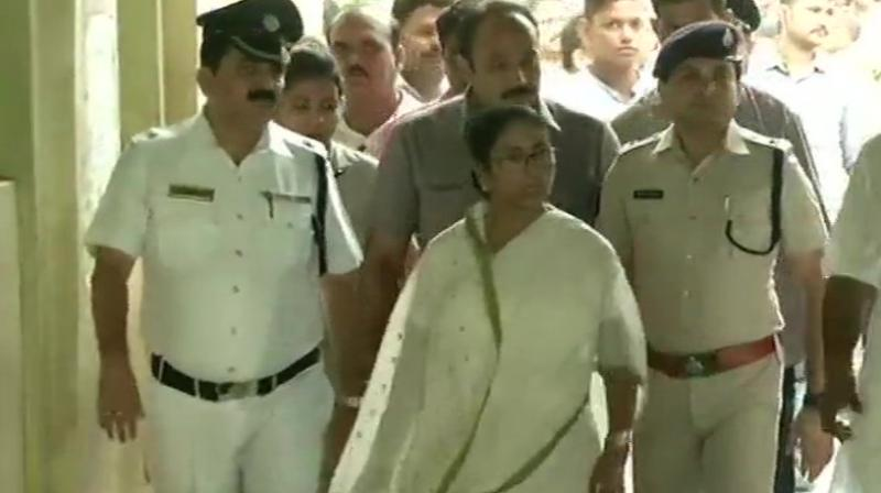 The TMC supremo made this statement after casting her vote at a polling station here. (Photo: ANI twitter)